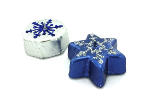 Metallic Snowflake Candles, Case of - Snowflake Candles Floating