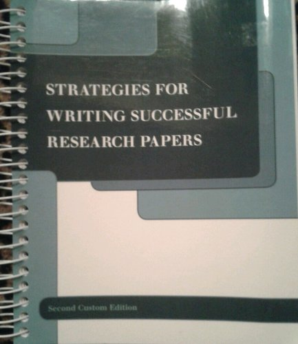 Download Strategies for Writing Successful Research Papers PDF