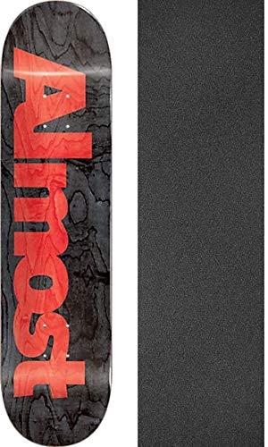 (Almost Skateboards Ultimate Black Skateboard Deck Resin-7-8.5
