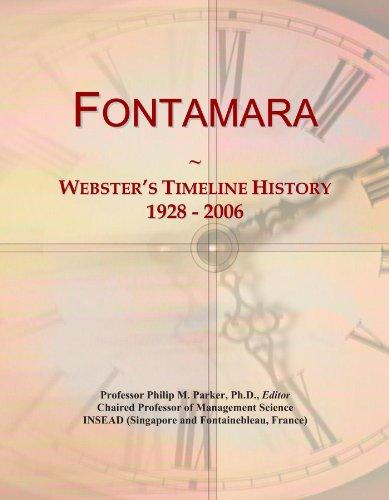 Fontamara: Webster's Timeline History, 1928 - 2006