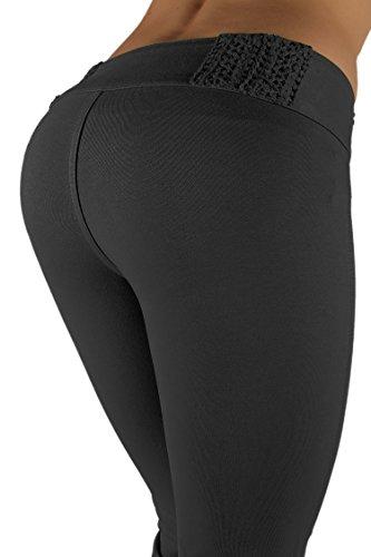 3018 - Brazilian Style Butt Lift, Levanta Cola, Fashion Moleton, Boot Leg, in Grey Size L