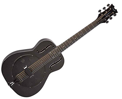 Dean RESBC Resonator Guitar in Black - Dean Resonator Chromes Guitar