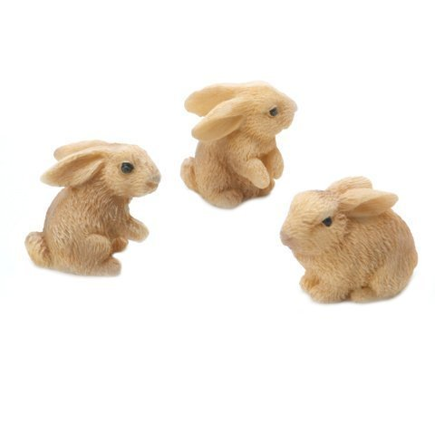 Darice® Yard and Garden Minis - Rabbits - Resin - 1 inch - 3 pieces (Accessories Resin)