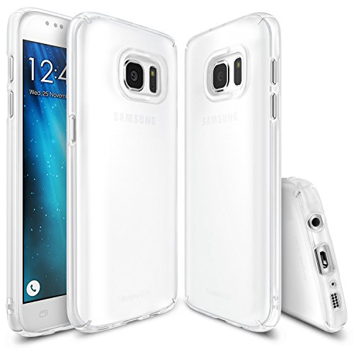 Ringke [Slim] Compatible with Galaxy S7 Case Dazzling Slender [Laser Precision Cutouts] Fashionable Superior Steadfast Bolstered PC Hard Skin Cover for Samsung Galaxy S7 - Frost White