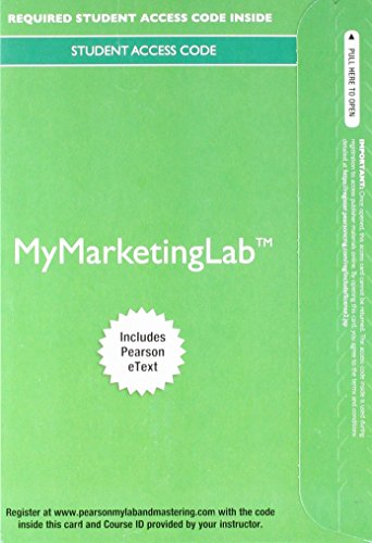 2017 MyLab Marketing with Pearson eText -- Access Card -- for Marketing: An Introduction