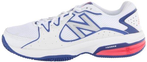 888098093469 - New Balance Women's WC786 Tennis Shoe,White/Pink,6 D US carousel main 4