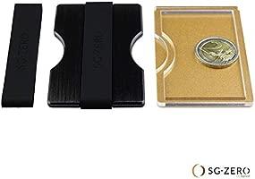 Tarjetero Hombre de Aluminio con Banda sujeta Billetes y Monedero - Cartera Inteligente y Fina con Bloqueo RFID, Billetera Hombre para 1-12 Tarjetas