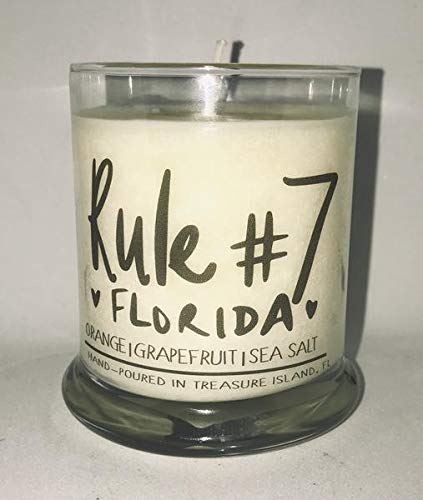 Rule #7 Candle Florida Home Candle- Soy Candle- Sunshine State (State Seminoles Florida Landscape)