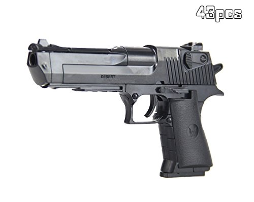 MeMo Toys Desert Eagle Gun Kids Toy Components Combination Game (Black) Desert Eagle Pistol