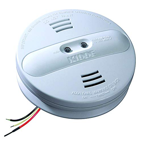 (Kidde 21007915-N Dual Sensor AC Hardwire Interconnect Smoke Alarm, White)