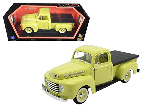StarSun Depot 1948 Ford F-1 Pickup Truck with Flatbed Yellow 1/18 Model Car by Road Signature