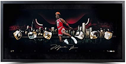 90259a398ce MICHAEL JORDAN Signed Framed quot City Of Rings quot  30 x 15 Photo LE 123  UDA