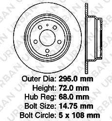 Lexus Toyota SHIPS FROM USA!!-Tax Incl. 5lug Rear Kit -Combo Brake Kit- 4 Semi-Met Pads 2 OEM Replacement Extra-Life Heavy Duty Brake Rotors