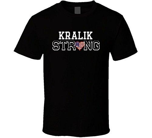 Kralik Strong American Pride Family Last Name USA T Shirt L Black