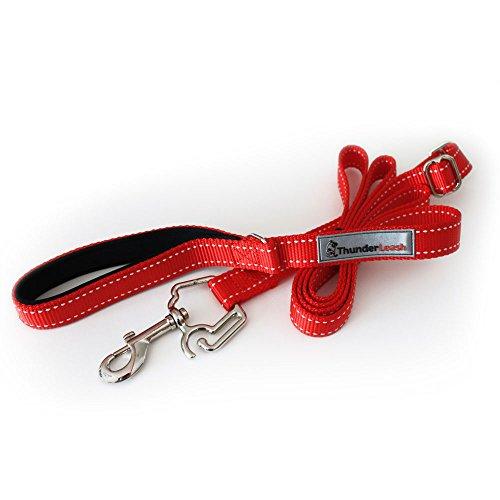 ThunderLeash No-Pull Dog Leash, Red, Large