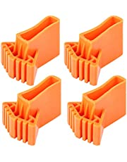 Angoily Extension Ladder Feet Rubber Pads Non Slip Replacement Step Ladder Feet Foot Mat Cushion Extension Ladder Cover Ladder Parts Accessories, Pack of 4 ( Orange, 8. 5X6CM )