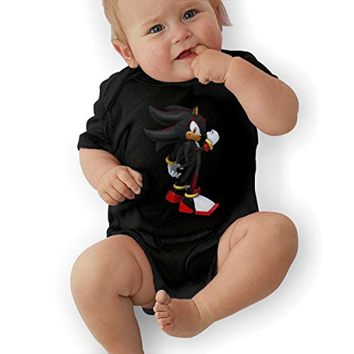 HiPiClothK Babys Sonic Shadow The Hedgehog Leisure Comfortable Short Sleeve Jumpsuit Outfits 12M ()