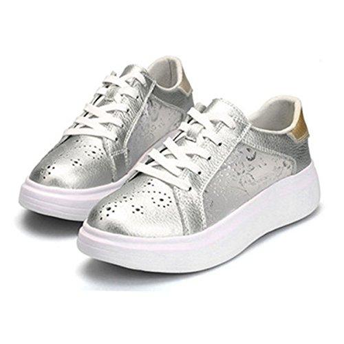décontracté dentelle mode femme chaussure Basket confort sneakers respirant ciselant Uzqww0nS