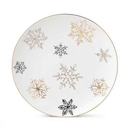 (Kate Spade New York Jingle All The Way Dinnerware Snowflake Design Christmas Cookie Serving Tray,)