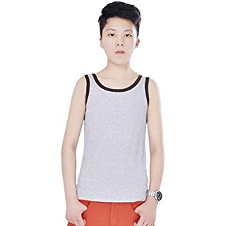 Dolpind Womens Les Lesbian Tomboy Short Chest Binder Vest Tank Tops Gray