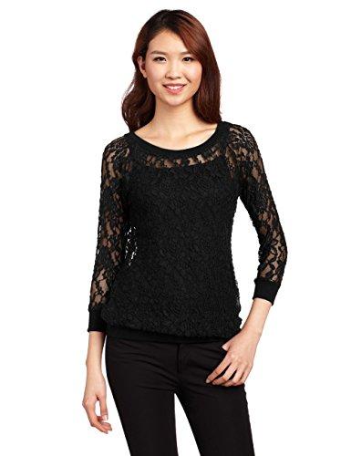 Laura Scott - Camiseta de manga larga - para mujer negro