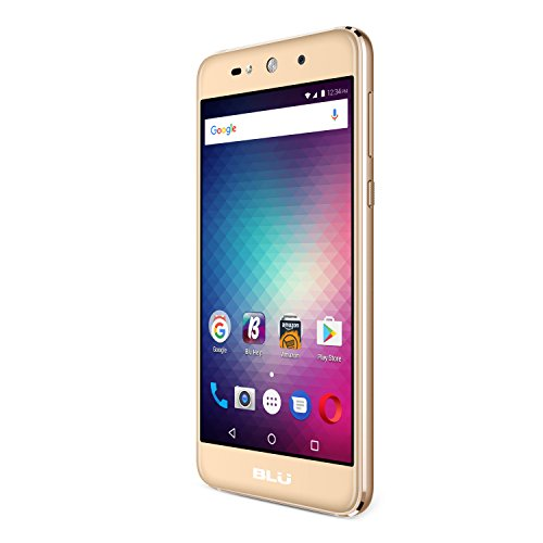 BLU Grand Max – Unlocked Dual SIM Smartphone- 8GB + 1GB RAM – Gold