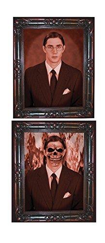 - Forum Novelties 60809 Multicol Haunted Lenticular Gentleman Moving Picture Frame, 12 x 13, Multicolor