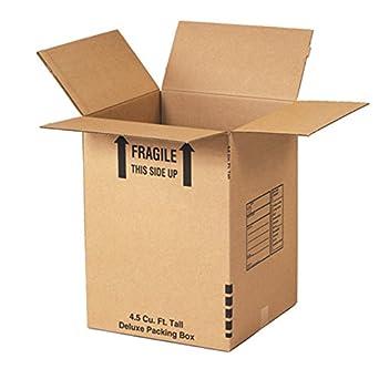 """uboxes – Juego de 10 Cajas de mudanza, grande 18 x 18 x 24 """""""