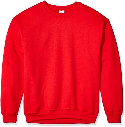 Gildan Men's Fleece Crewneck Sweatshirt, Red Large