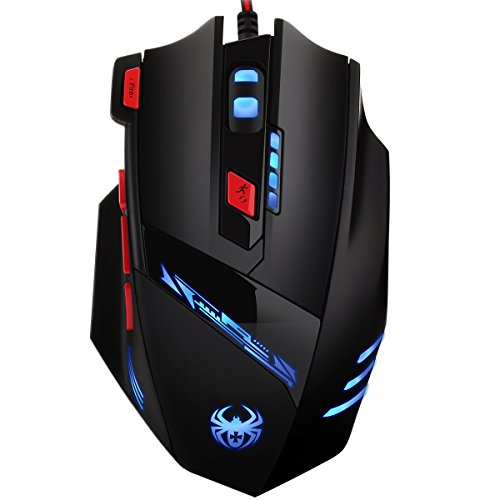 41dukVhFwHL - AMIR Gaming Mouse, USB Wired Optical Gaming Mice with 9200 DPI High Precision, 6 Adjustable DPI 1000-9200 + 8 Adjustable Weights + 6 Changing LED + 8 Buttons for Laptop/ PC/ MacBook/ Computer