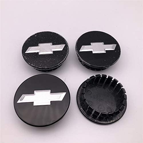 FT/&C 4PCS Black and Silver 2 1//4 for Camaro Impala Malibu Car Custom Wheel Hub Center Caps 9594156