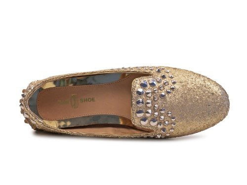 Platino Donna Woman Scarpa Glitter Loafer Borchie Mocassino B3968 Shoe Car nXBxXg6q