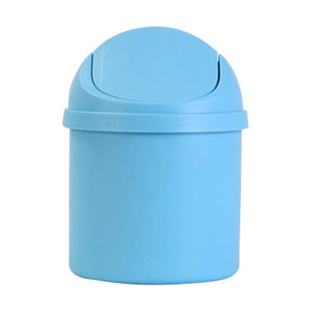 5.3 Mioloe La Basura de los Mini Ordenadores de sobremesa Puede pl/ástico Papelera de la Basura con la Tapa Superior 7.9 del oscilaci/ón