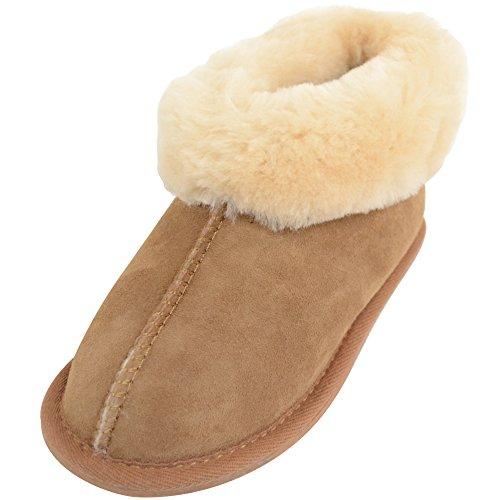 SNUGRUGS pour enfants/enfants/filles 100% FULL chaud en peau de mouton Pantoufles/Chaussons