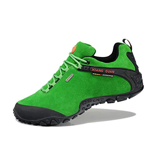XIANG Lace up top Women's Outdoor Ladies Trekking Footwear Travelling Shoes Suede Sneaker Walking Hiking GUAN Breathable Waterproof Low Green 00BYrwq