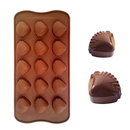 VT BigHome Silicone 15 Cavity Cameo Shell Mold For Chocolate Sugar Ice Cube Tray Molds Jelly