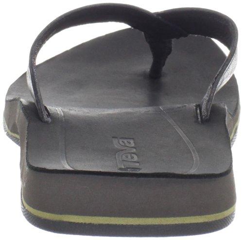 Teva Ladera Toe Post M's 8830 - Chanclas de cuero para hombre Negro (Schwarz (black 513))