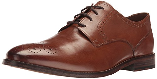 Bostonian Men's Ensboro Plain Oxford, Tan, 9.5 M US - Leather Sole Dress Shoes