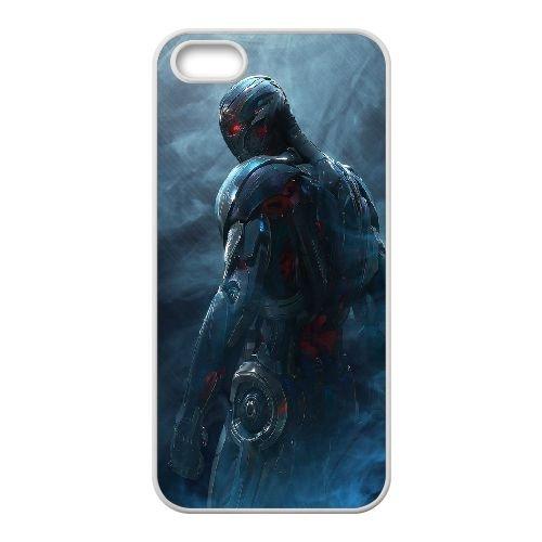 Ultron Avengers Age Of Ultron Avengers 102193 coque iPhone 4 4S cellulaire cas coque de téléphone cas blanche couverture de téléphone portable EOKXLLNCD20566