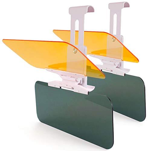 2 X Car Sun Visor Extender Anti Glare Blocker, HD Day Night Driving Visor Glare Sun Shield Tinted Lens Blocker Car Extender Visor Sunscreen,[Reduces Glare&Eye strain] Extendable Visor for Car (2 pack)