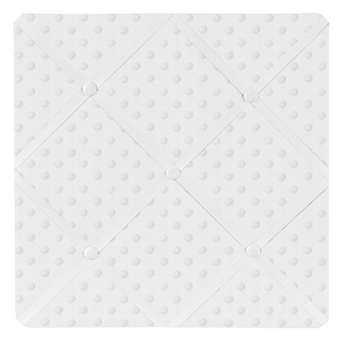 (Sweet Jojo Designs Solid White Minky Dot Fabric Memory/Memo Photo Bulletin Board)