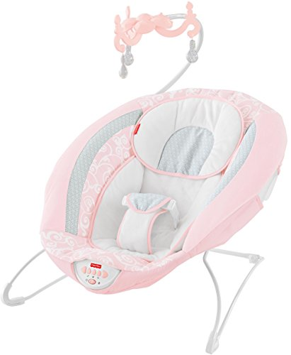 Fisher-Price Pearl Chandelier Deluxe Bouncer, Pink (Fisher Price Seat Bouncer)