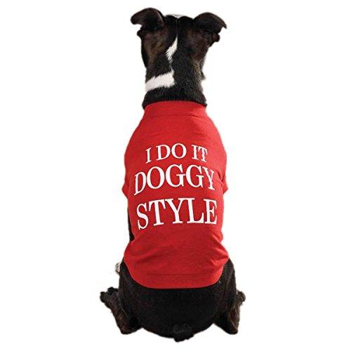 Zack & Zoey Doggy Style Dog T-Shirt, Medium, Red