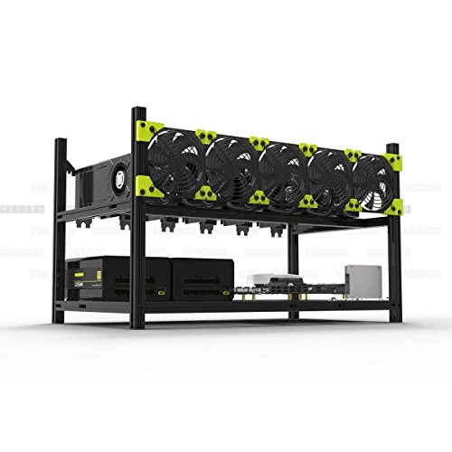 6 GPU Mining Rig Case With 5 PCS Extreme Airflow 120mm Case