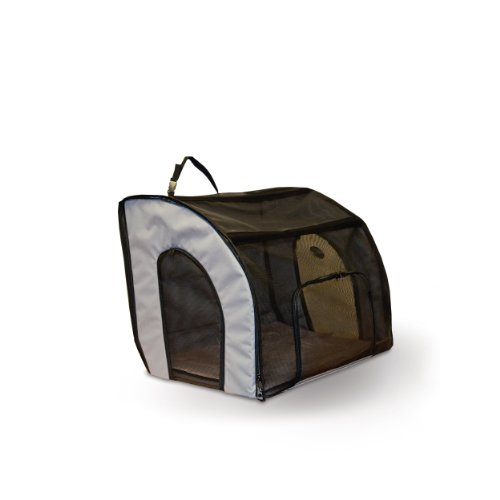 K&H Pet Products Travel Safety Pet Carrier Small Gray 17
