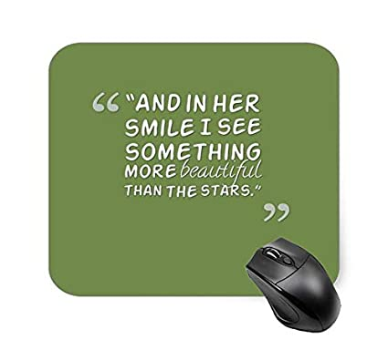 Amazon.com : Short Cute Smile Quotes Green Mouse Pad 7.1 X ...