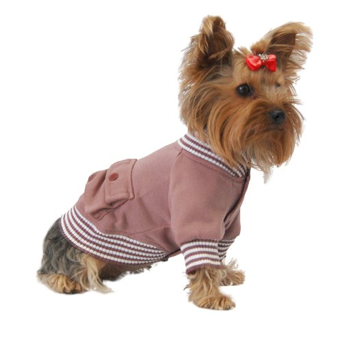 Anima Red Poly Cotton Blend Sailor Jacket, Snap Button Closure, Small, My Pet Supplies
