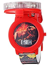 Jurassic Park Reloj de cuarzo de plástico, color: negro (modelo: JRW4007)