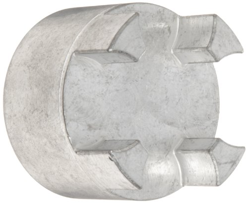 Lovejoy 76318 Size GS 19/24 Curved Jaw Coupling Hub, Aluminum, Inch, 0.625'' Bore, 1.57'' OD, 2.6'' Overall Coupling Length, 3/16