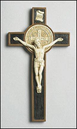 Unique Resin St Benedict Wall Crucifix